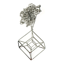 Tesseract Necklace - [1 1/4'' Tall]
