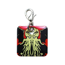 Cthulhu Key Chain Charm - [Black][1'' Square]