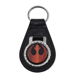 SW Rebel Alliance Leather Key Chain Fob - [Black][3'' Tall]