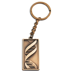 DNA Copper Keychain