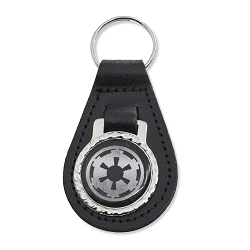 Galactic Empire Black Leather Keychain Fob - 3