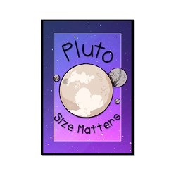 Pluto Size Matters Refrigerator Magnet - [3
