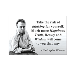 Take the Risk of Thinking for Yourself for More Happiness Truth Beauty Wisdom Refrigerator Magnet - [3'' x 2'']