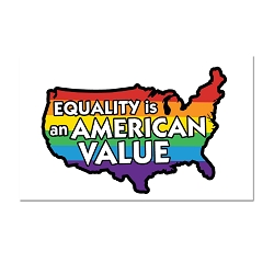 Equality is an American Value Refrigerator Magnet - [3