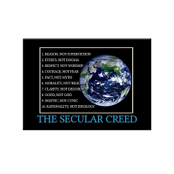 Secular Creed Refrigerator Magnet - [3'' x 2'']