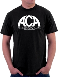 Atheist Community of Austin Men's Cotton Crew Neck T-Shirt