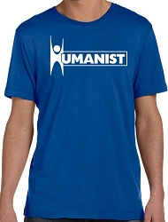 Humanist Word Men's Cotton Crew Neck T-Shirt - [Royal]