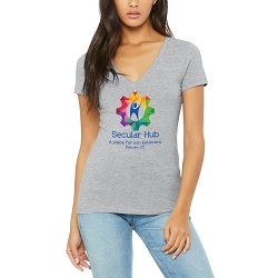 Secular Hub Women's Cotton V-Neck T-Shirt