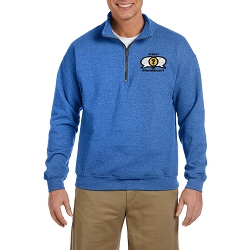 Street Epistemology Embroidered Men's Quarter Zip Sweatshirt