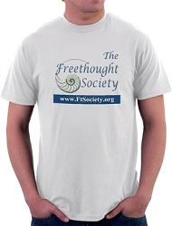 The Freethought Society Men's Cotton Crew Neck T-Shirt - [White]