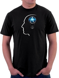 The Thinking Atheist Men's Cotton Crew Neck T-Shirt - [Black]
