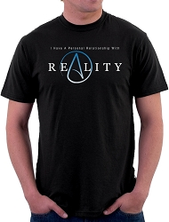 The Thinking Atheist Personal Relationship with Reality Men's Cotton Crew Neck T-Shirt - [Black]