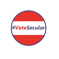 #VoteSecular Pinback Button - [1.25'' Diameter]