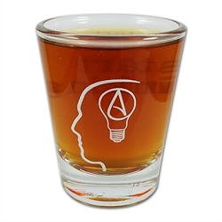 The Thinking Atheist Shot Glass - [1.75 oz.]