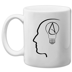 The Thinking Atheist White 11 oz. Coffee Mug