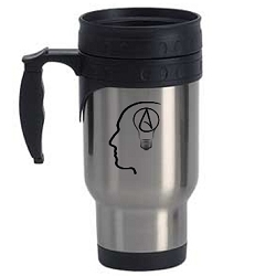 The Thinking Atheist Travel Mug - [12 oz.]