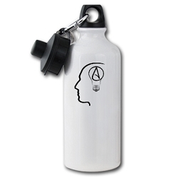 The Thinking Atheist Aluminum Water Bottle - [20 oz.]