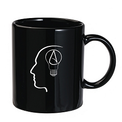 The Thinking Atheist Black 11 oz. Coffee Mug