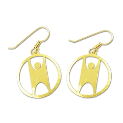 Humanist Circle Earrings - 7/8