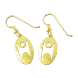 Humanist Oval Earrings - 3/4