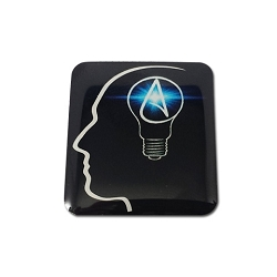 The Thinking Atheist Lapel Pin - [1