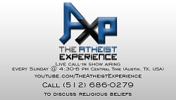 The Atheist Experience Hand Out Card
