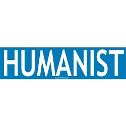 Humanist Bumper Sticker - [4'' x 3.5'']