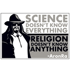 Science Doesn't Know Everything Religion Doesn't Know Anything Bumper Sticker - [5.25'' x 3.5'']