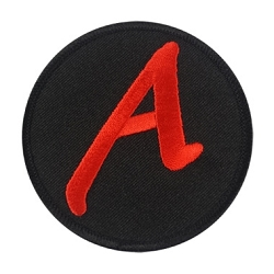 Scarlet A for Atheist Embroidered Patch - [3'' Diameter]