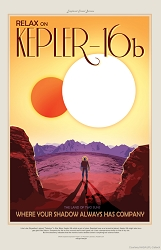 Kepler-16b Visions of the Future Poster - [11'' x 17'']