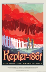 Kepler-186f Visions of the Future Poster - [11'' x 17'']