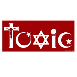 Toxic Religion Bumper Sticker - [5'' x 2'']