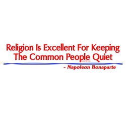 Religion is Excellent for Keeping the Common People Quiet Bumper Sticker - [11'' x 3'']