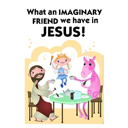 What an Imaginary Friend We Have in Jesus Bumper Sticker - [5'' x 3.25'']