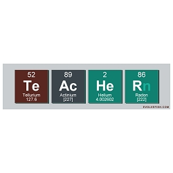 Teacher Periodic Table Bumper Sticker 11