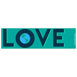 Love Earth Bumper Sticker - [11'' x 3'']