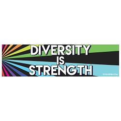 Diversity is Strength Bumper Sticker 11