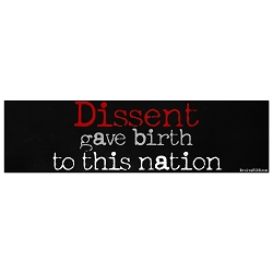 Dissent Gave Birth to This Nation Bumper Sticker 11