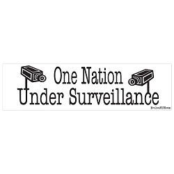 One Nation Under Surveillance Bumper Sticker 11