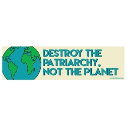 Destroy the Patriarchy Not the Planet Bumper Sticker - [11