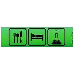 Eat Sleep Science Bumper Sticker - [11'' x 3'']