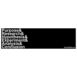 Scientific Method Bumper Sticker - [11'' x 3'']