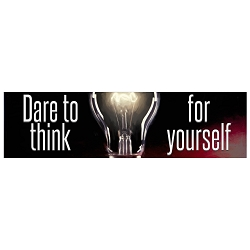 Dare to Think for Yourself Light Bulb Bumper Sticker 11