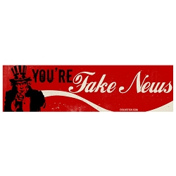You're Fake News Bumper Sticker - [11'' x 3'']