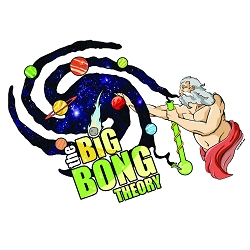 Big Bong Theory Bumper Sticker - [4.5'' x 3'']