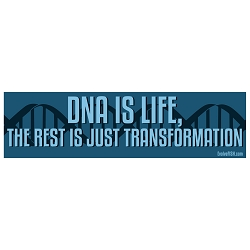 DNA is Life Bumper Sticker - [11'' x 3'']