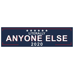 Literally Anyone Else 2020 Bumper Sticker 11