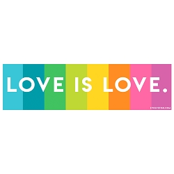 Love is Love Bumper Sticker - [11'' x 3'']