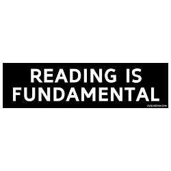 Reading is Fundamental Bumper Sticker - [11'' x 3'']