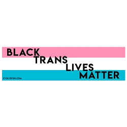 Black Trans Lives Matter Bumper Sticker - [11'' x 3'']